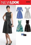 6723 New Look Pattern: Misses' Day or Evening Dress, plus Clutch